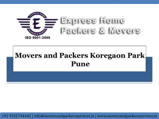 Movers and Packers in Koregaon Park Pune | Express Home Pack
