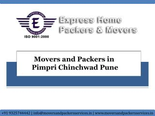 Movers and Packers in Pimpri Chinchwad Pune | Packers and Mo
