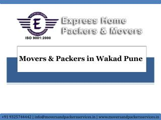 Movers and Packers in Wakad Pune | Express Home Packers & Mo