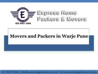 Movers and Packers in Warje Pune | Express Home Movers and P