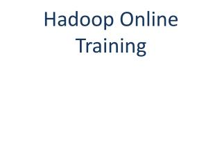Hadoop Online Training | Online Hadoop Training