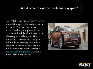 What is the role of Car rental in Singapore?