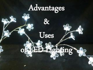 Advantages & Uses of LED Lighting