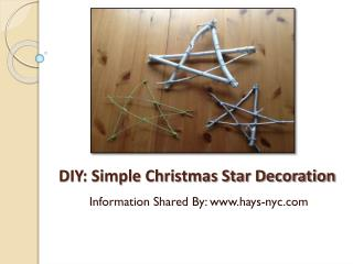 DIY: Simple Christmas Star Decoration