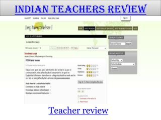 Indian Teachers Review