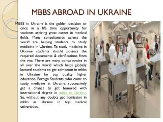 Admission in Medical Colleges In Ukraine