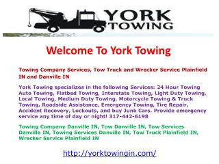 Towing Company Services, Tow Truck and Wrecker Service Plain