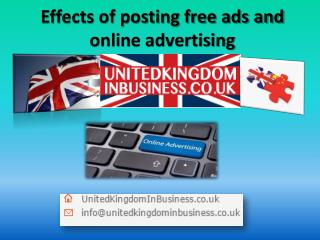 Effects of posting free ads and online advertising