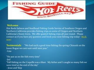 Fishing Guide Southern Oregon | Northern California | Hot Re