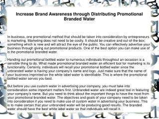Increase Brand Awareness through Distributing