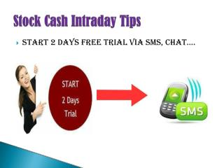 Stock cash Intraday Tips