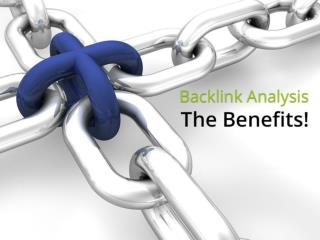 Back link Analysis – The Benefits
