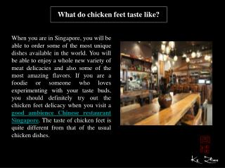 What do chicken feet taste like?