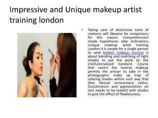 Makeup Artist Training London
