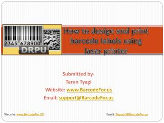 How to Print Barcode Labels using Laser Printer