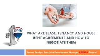 Lease, Tenancy and House Rent Agreements