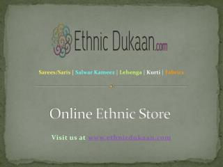 Online Ethnic Store - Party Wear and Designer Sarees, Salwar