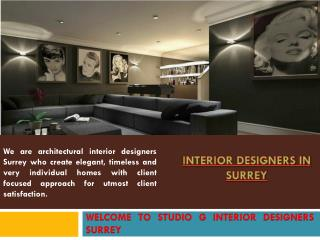 Interior Design In Surrey