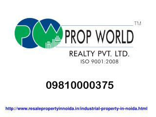 09810000375 Industrial Property In Noida For Sale