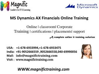 microsoft dynamics ax 2012 financials training