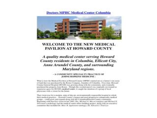 Doctors MPHC Medical Center Columbia