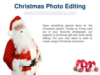 Christmas Photo Editing