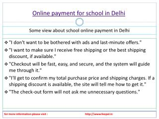 Facts about online payment for school in Delhi
