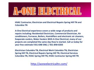 HVAC Contractor, Electrician and Electrical Repairs Spring H