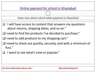 Basic categories of Internet online payment for school in Gh