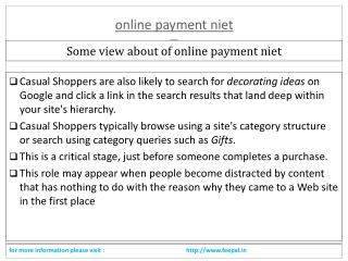 A best way to submitted online payment niet