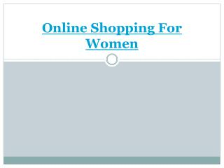 Best Women Online Shopping