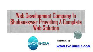 Web Development Company In Bhubaneswar A Complete Web Soluti