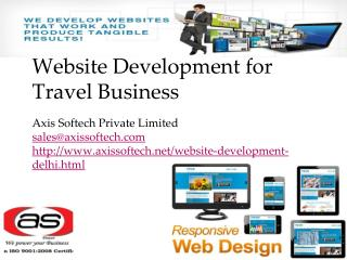 Website Development for Travel Business