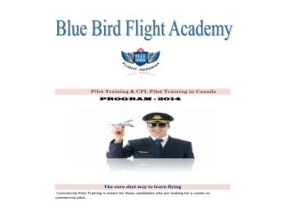 Pilot Training & Commercial pilot Training - BBFA