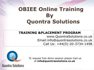 Oracle 12C Online Training by Quontra Solutions