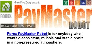Forex Pay Master Robot