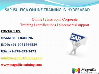 Sap isu fica online training