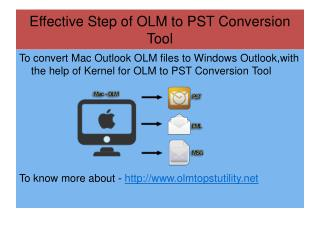 Export OLM to PST Software