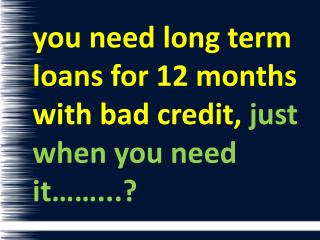 Long Term Cash Solution With Easy Installments