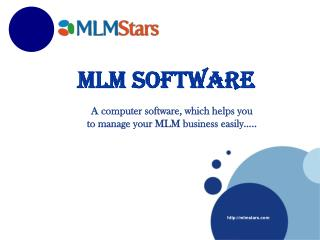 MLMStars | MLM software | Online cloud software | marketing