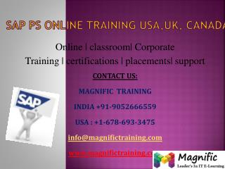 Sap ps online training in hyderabad