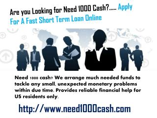 Small Loans Bad Credit-  $1000 Loans For Bad Credit Holders