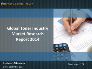 Global Toner Industry Market Research Report 2014