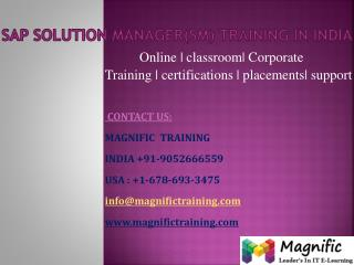Sap Solution Manager(SM) training in india