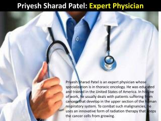 Priyesh Sharad Patel - Expert Physician