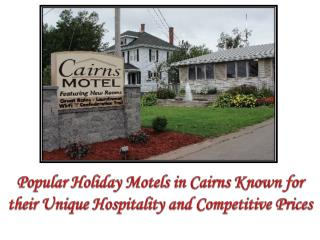 Popular Holiday Motels in Cairns