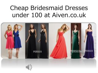 Discount Bridesmaid Dresses UK 2015 under 100