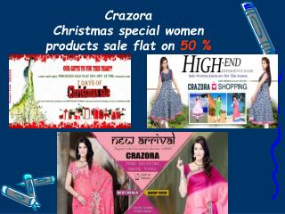 Crazora Offers For Christmas Sale Flat on 50 % - On All Prod