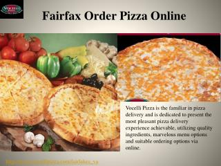 Fairfax Order Pizza Online