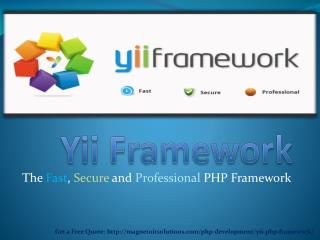 Yii PHP Framework for Beginners